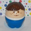 Little Tikes Toddle Tots People Brown Hair Boy Square Bottom