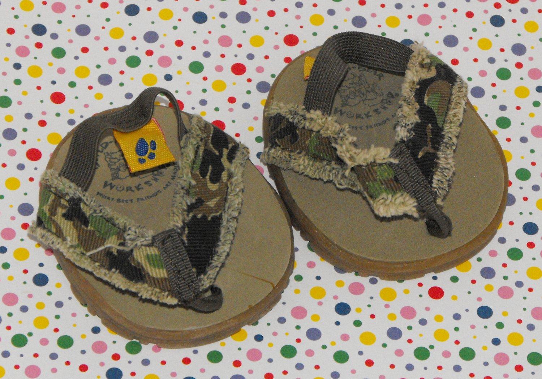 Build a Bear Camo Sandals