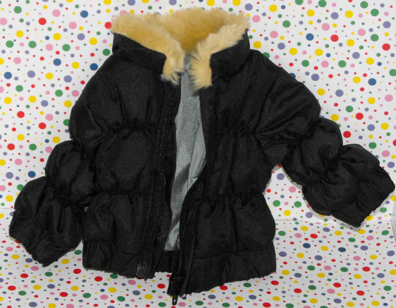 TollyTots Amerian Girl Battat Doll Clothes Puffy Black Winter Jacket