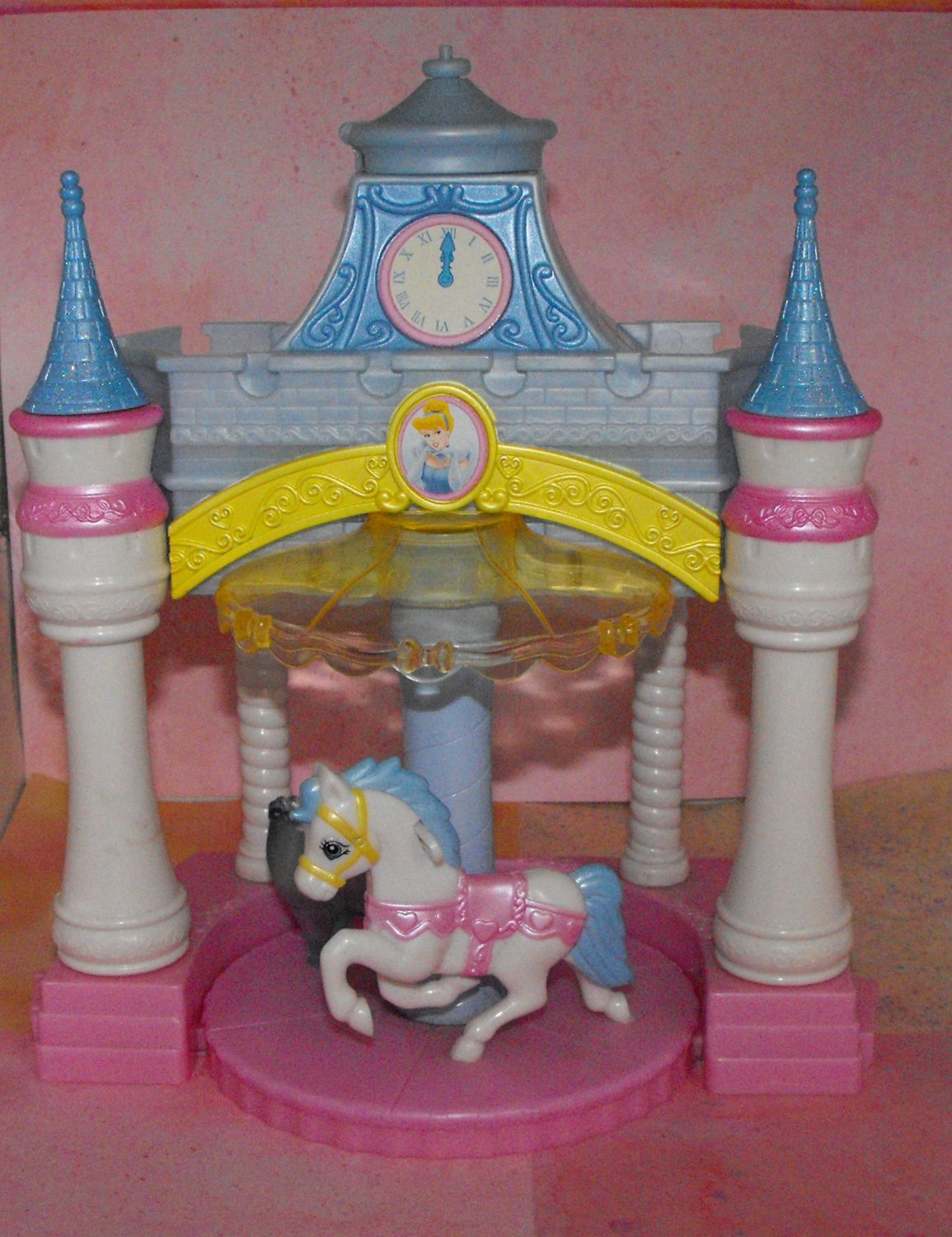3*SOLD~Disney Princess Enchanted Playground Castle Carousel Playset
