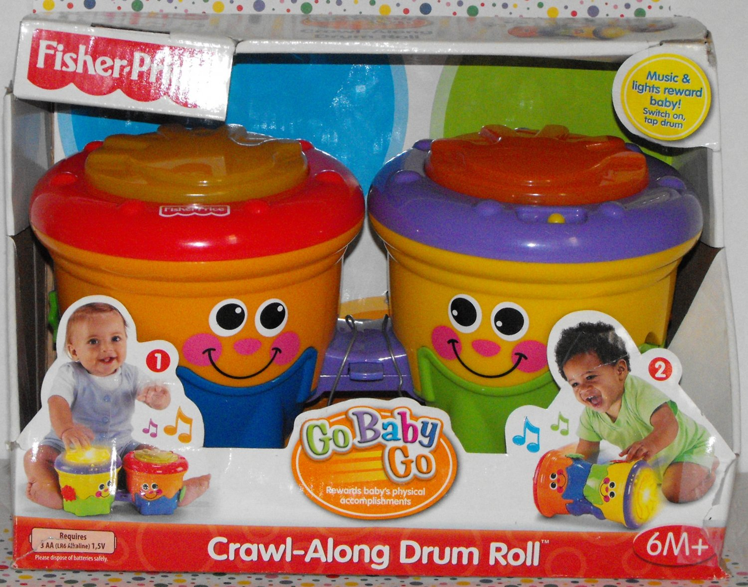 SOLD~Awaiting Feedback~Fisher Price Go Baby Go Crawl Along Drum Roll
