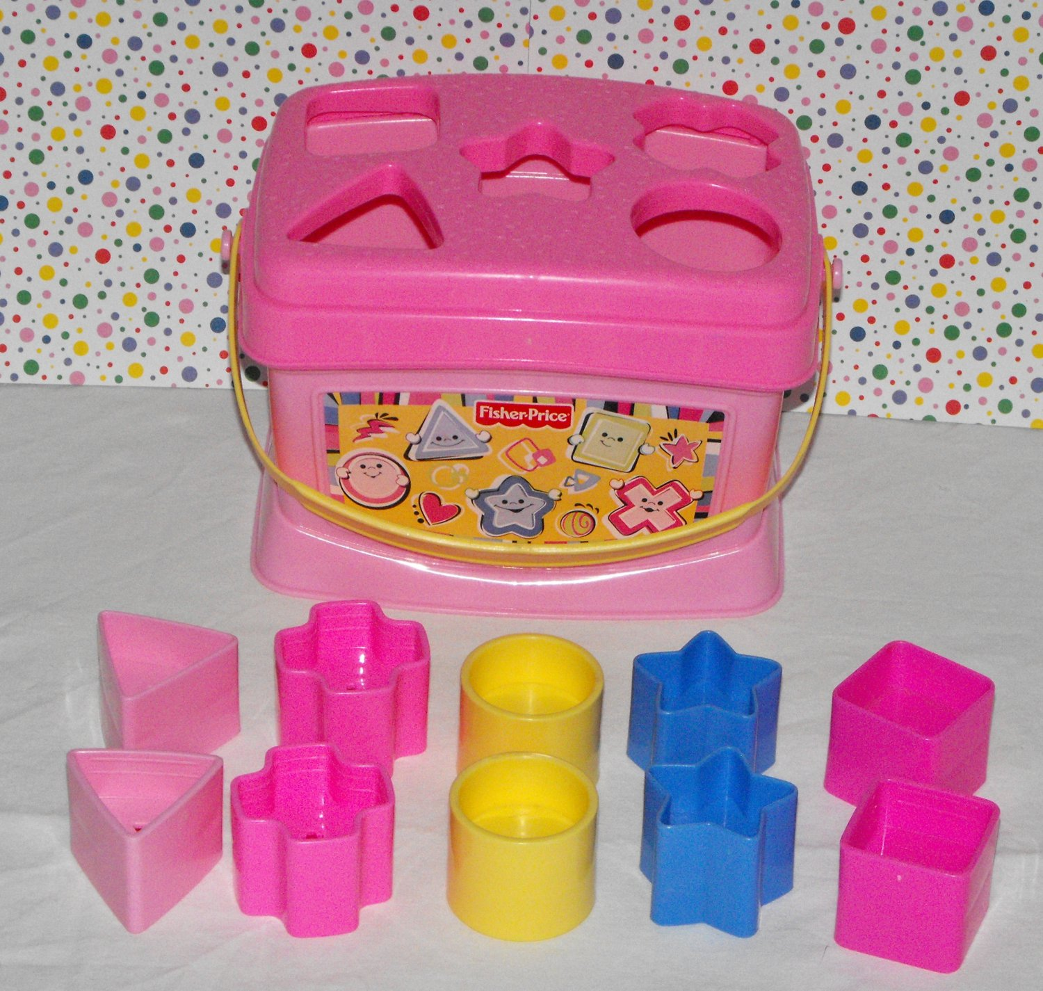 Fisher Price Brilliant Basics PINK Baby's First Blocks
