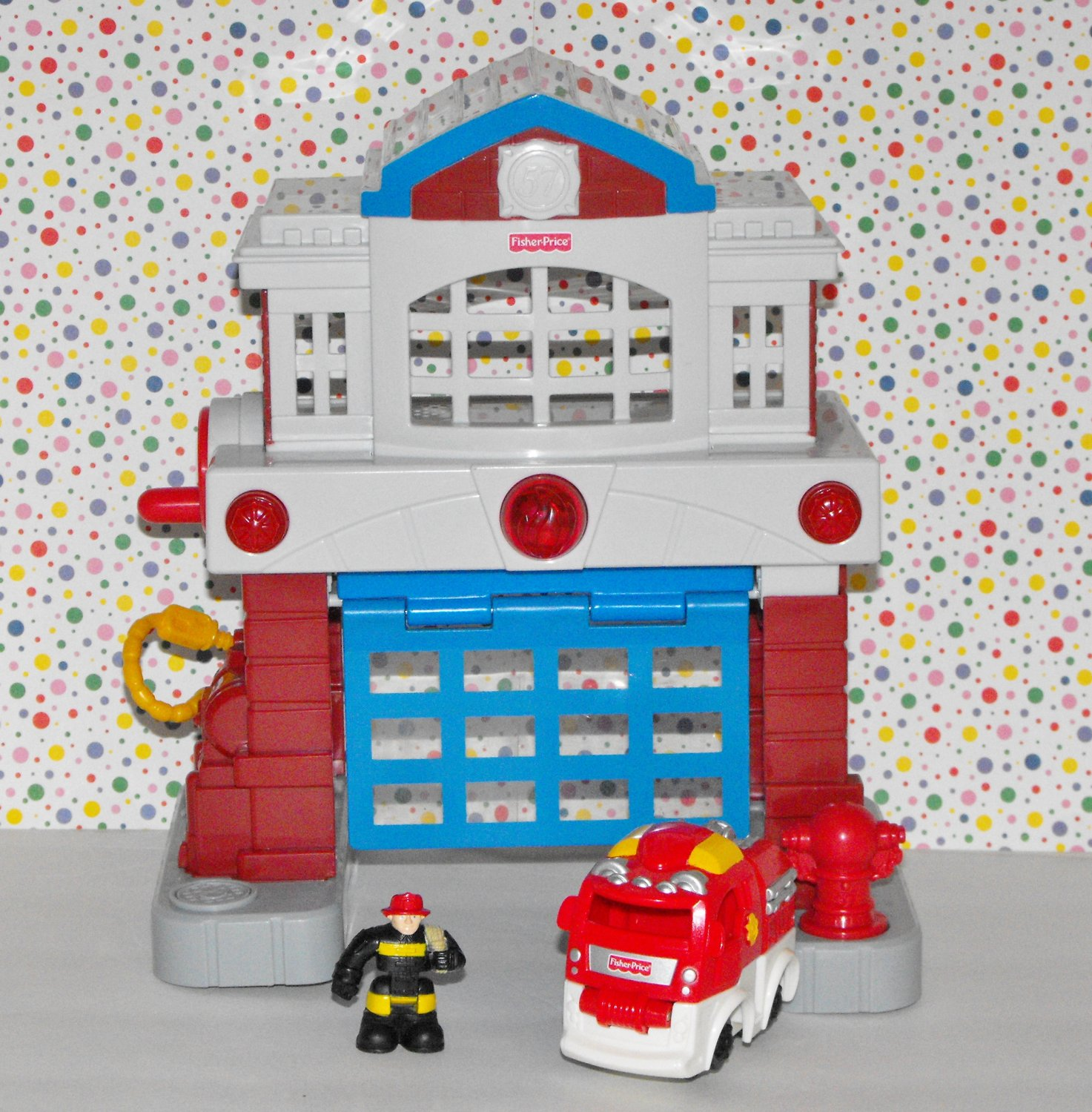 Fisher Price GeoTrax Beamtown Fire Station