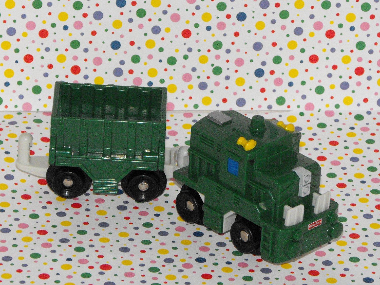 Fisher Price Geo Trax Push GeoTrax Freightway Transport Train  Vehicle