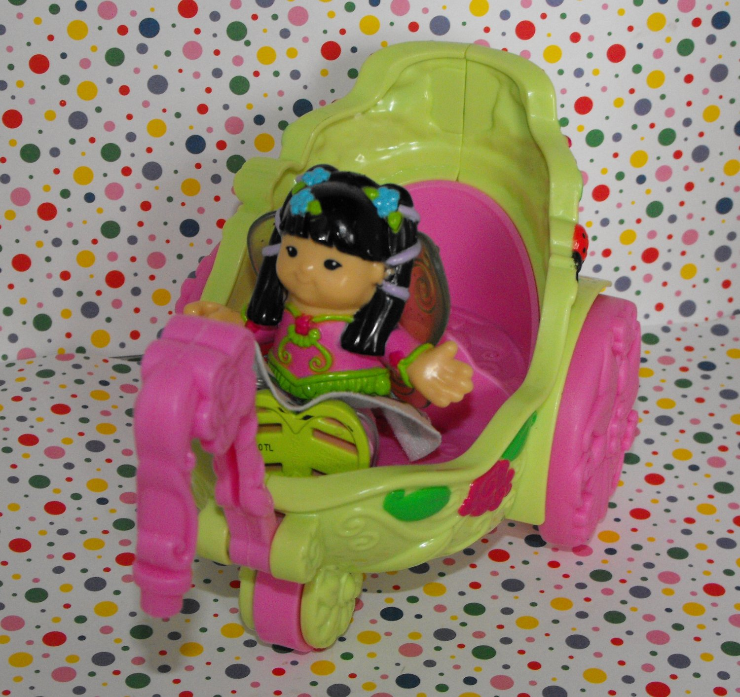*SOLD~Awaiting Feedback~Fisher Price New Style Little People Sonya Fairy Carriage