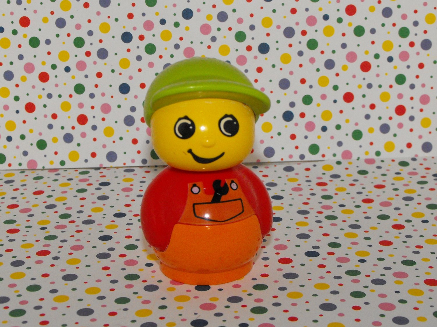 2*SOLD Lego Duplo Primo Blocks Boy with Wrench Figure Part