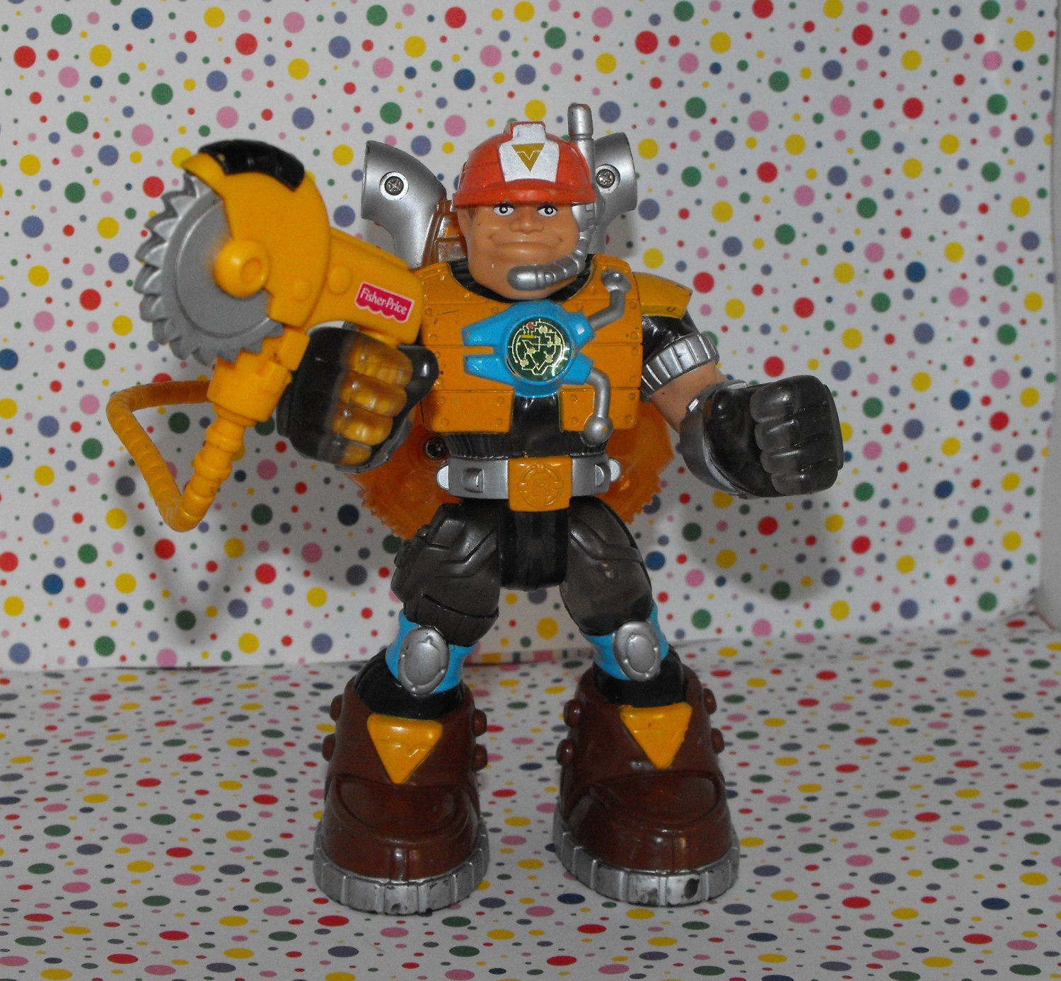 Fisher Price Rescue Heroes Voice Tech Jack Hammer Construction Expert