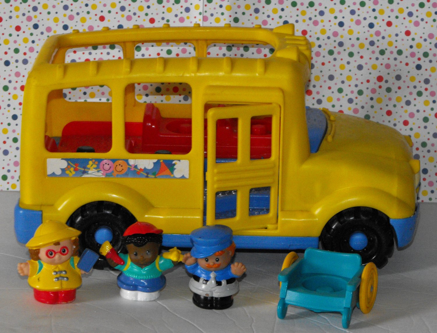 2*SOLD~Fisher Price Little People School Bus Complete