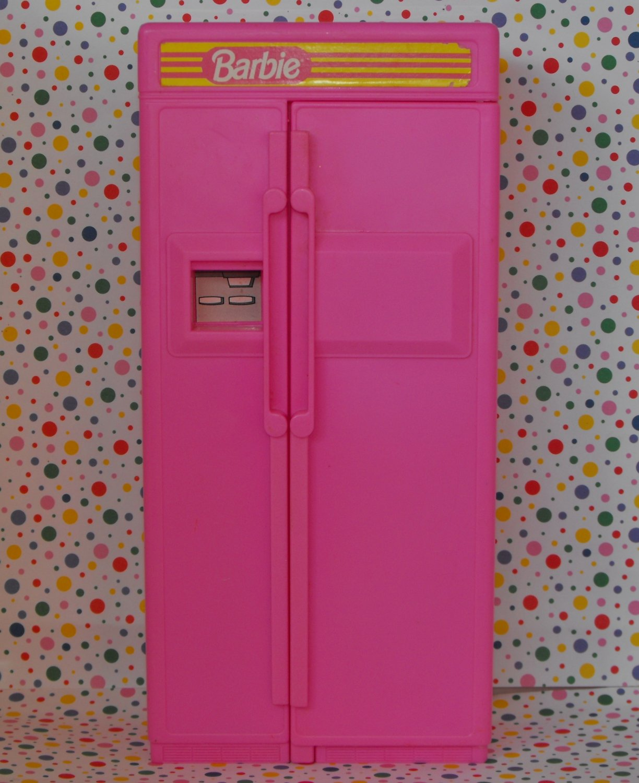 Vintage Barbie Pink Refrigerator Made by Arco