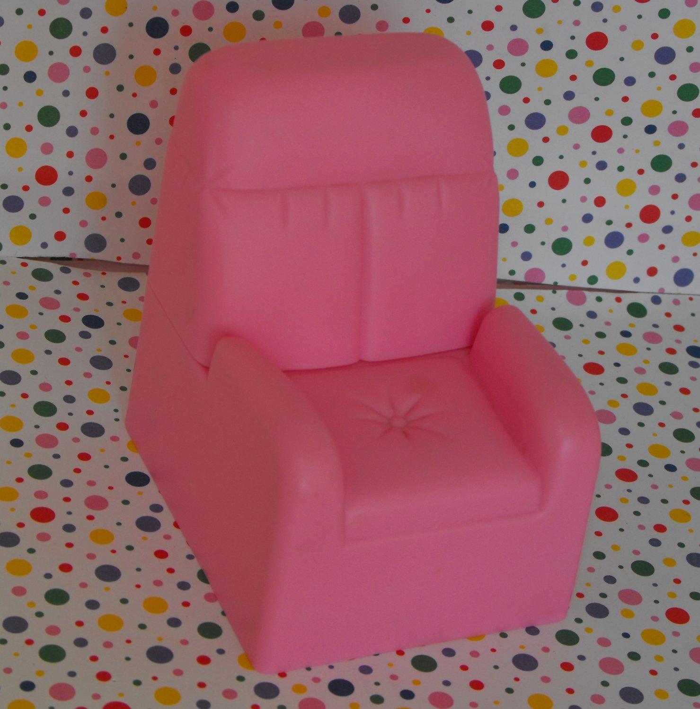 12*SOLD~Vintage Barbie Pink Stuffed Chair