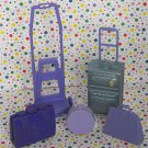 Barbie Tropical Vacation Purple Luggage Set