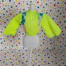 Vintage Barbie Peasant MOD Retro Blouse Shirt