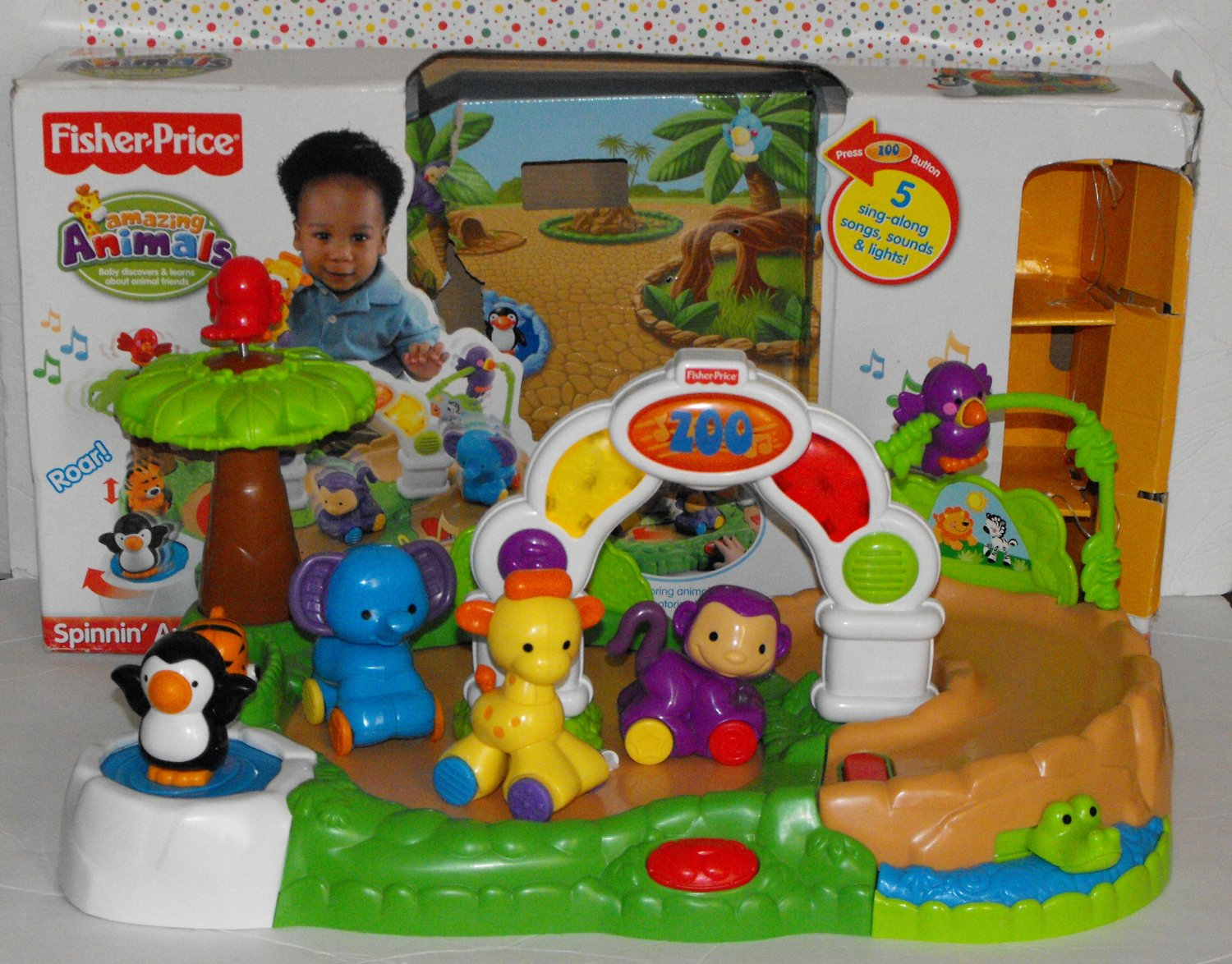 Fisher Price Amazing Animals Spinning Round Musical Zoo