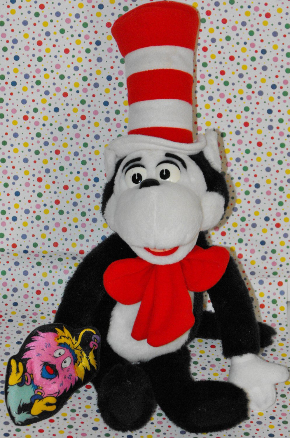 "Ontario Truck Parts >> Dr Seuss Cat in the Hat Talking plush doll 19"" 1997 Mattel"