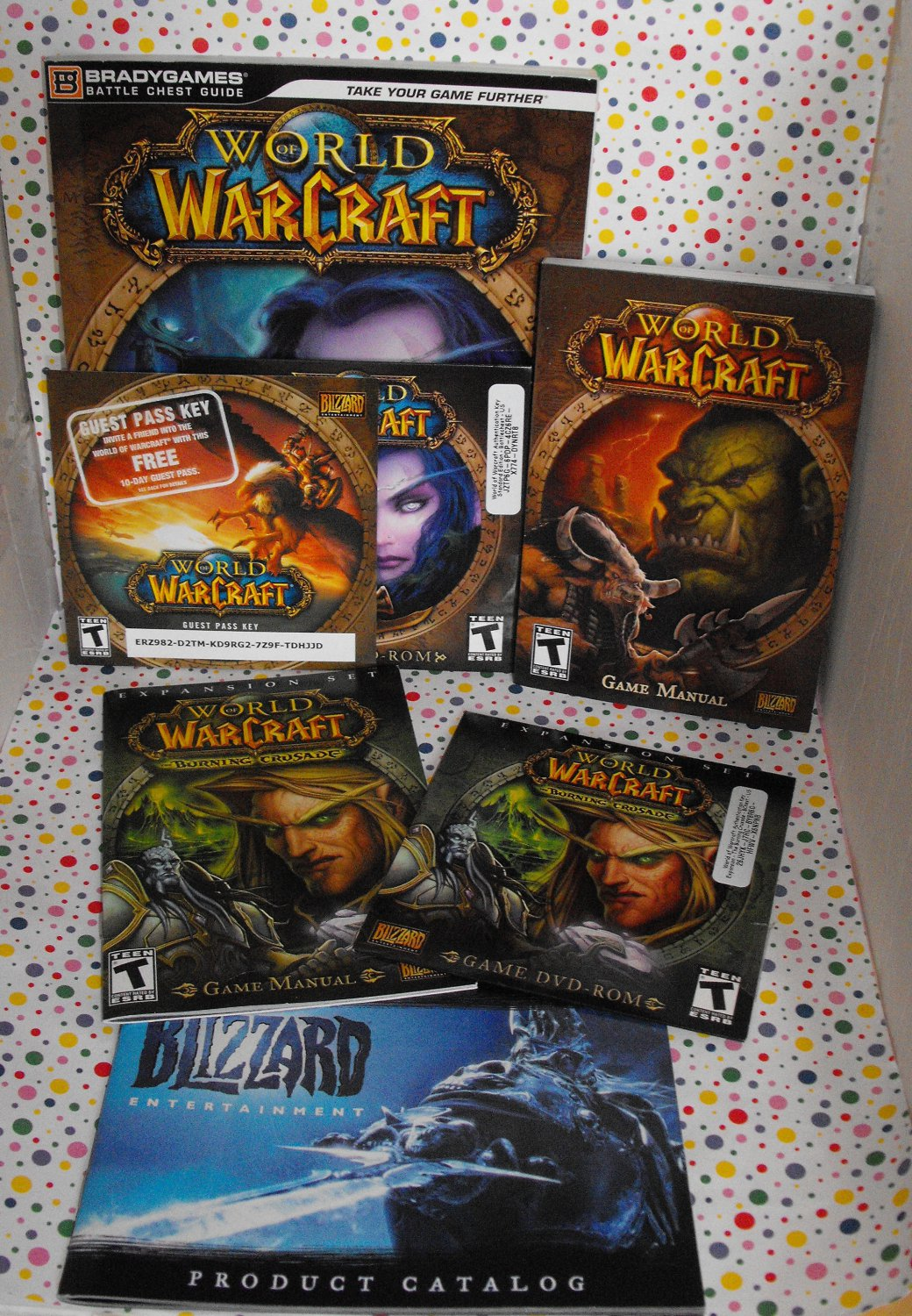 World of Warcraft PC Games Lot Battle Chest and Burning Crusade with Guides