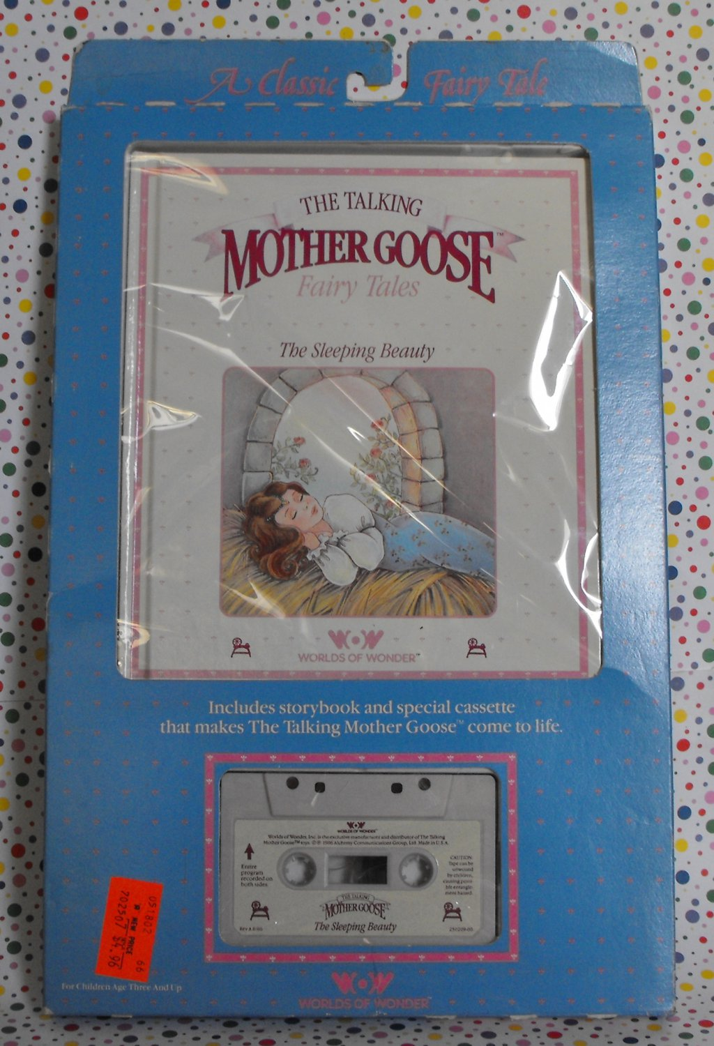 """Worlds of Wonder Talking Mother Goose """"The Sleeping Beauty"""" Book and Tape"""