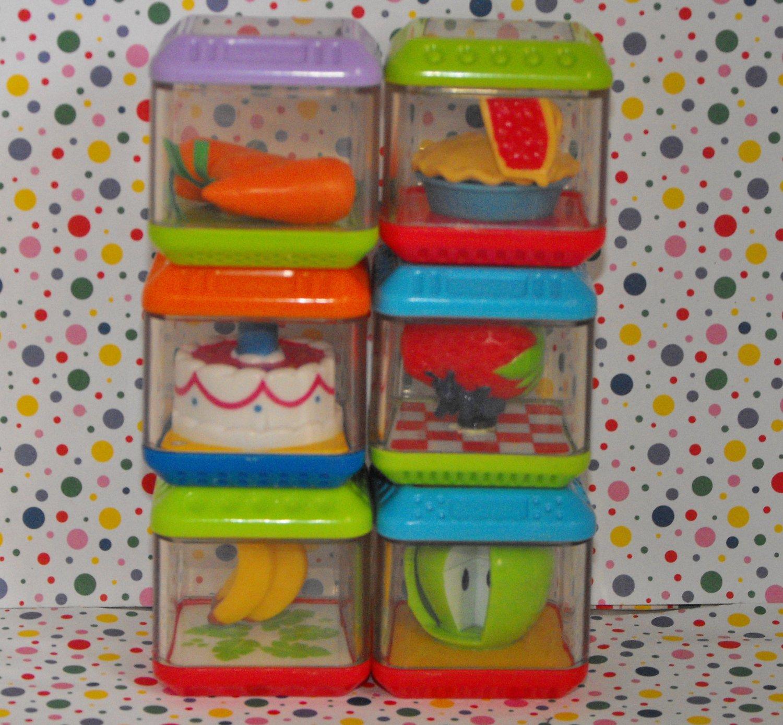Fisher Price Peek A Blocks Gobble n' Go Hippo Food Block Parts Lot