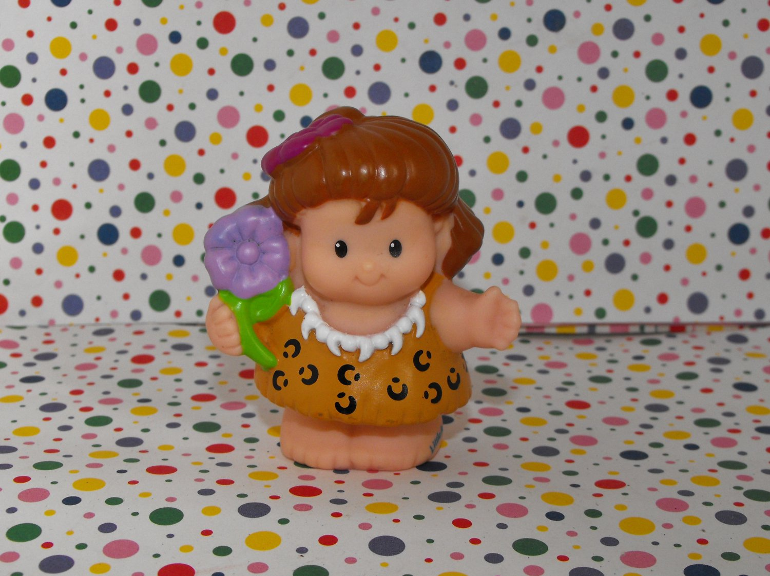 Fisher Price Little People Lil' Dino Triceratops Cavegirl