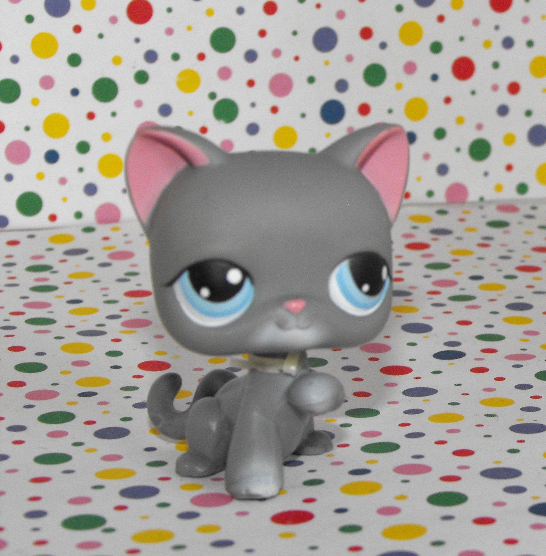 Littlest Pet Shop #74 Gray Kitty Cat~Snowfall Fun LPS