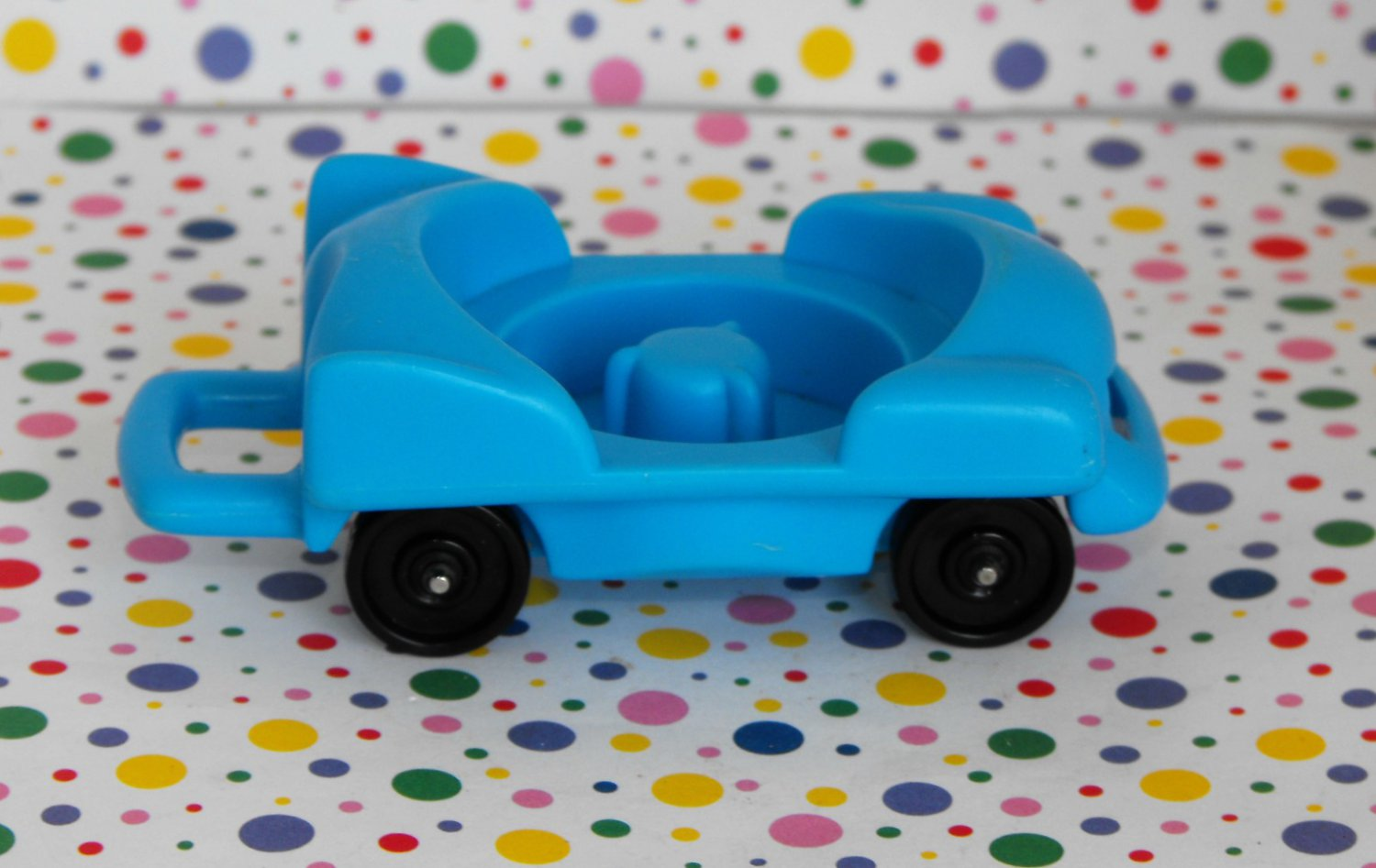 12*SOLD~Fisher Price Little People Fun Park Carnival Blue Car Part