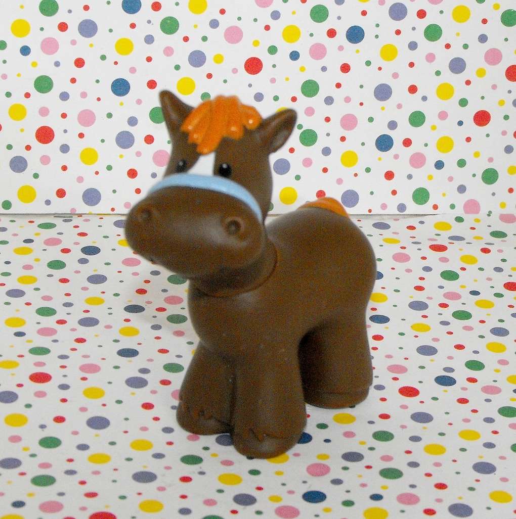 *7/13*SOLD~Fisher Price Little People Farm Stable Horse