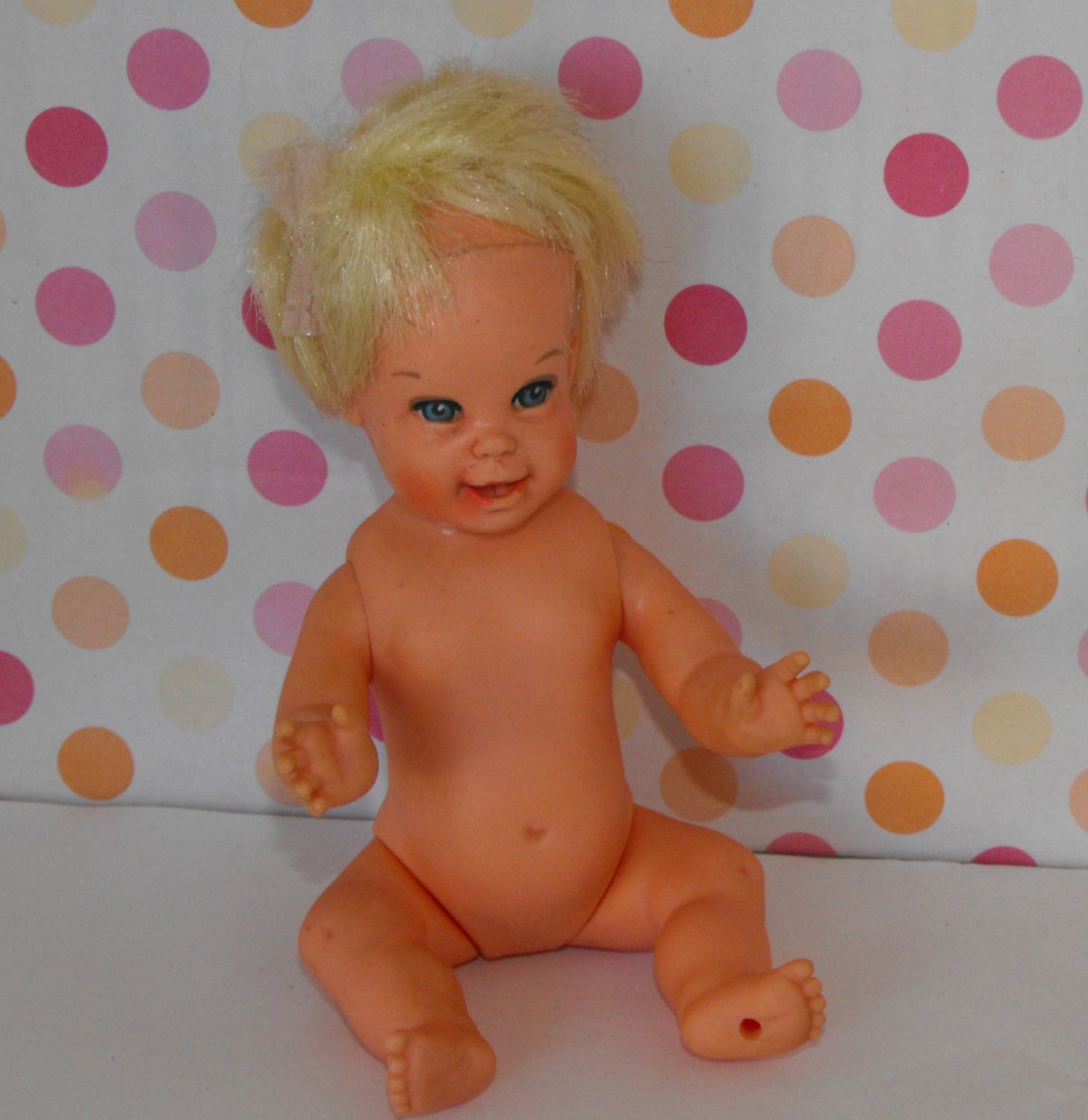 9*SOLD~Mattel Cheerful Tearful Baby Doll Vintage 1966