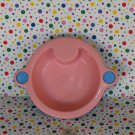 Vintage Pink and Blue Baby Doll Feeding Food Bowl