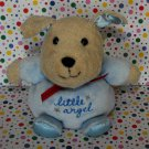 "Carter's Child of Mine ""Little Angel"" Puppy Beanie Rattle Blue Baby Lovey"
