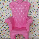 Barbie of Swan Lake Musical Fantasy Castle Pink Chair Throne Part Dollhouse Furniture