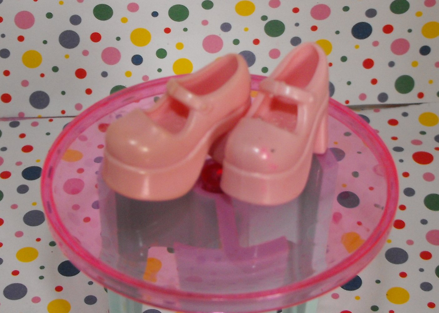Barbie Pink Mary Jane Style Shoes Heels
