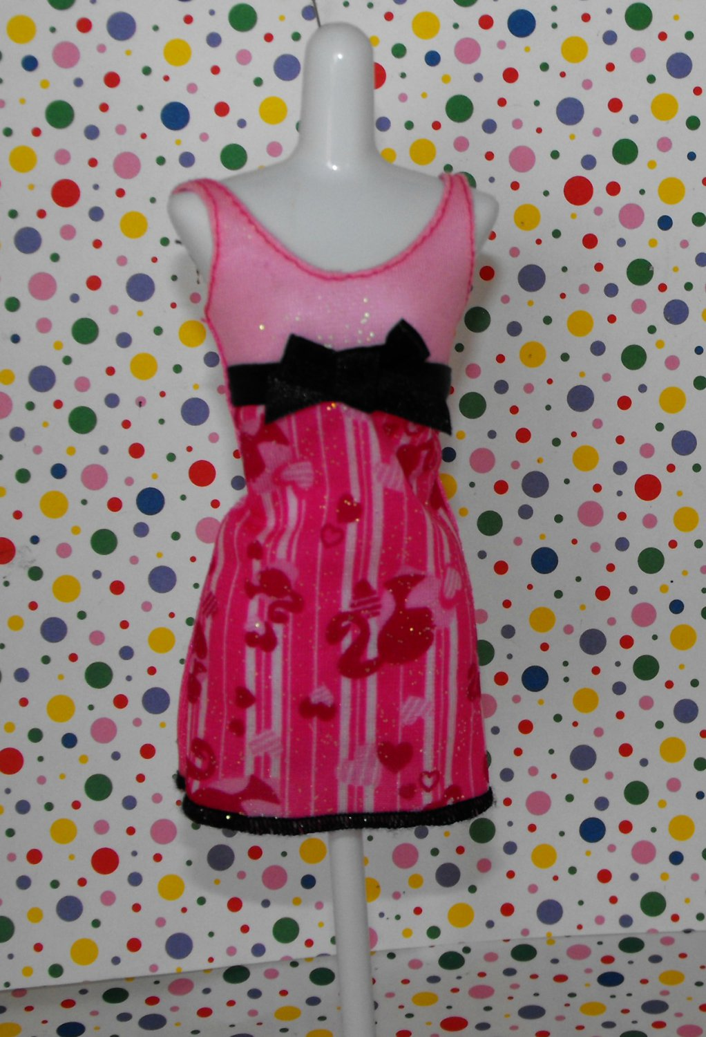 Barbie Fashion Fever Dress Barbie Ponytail Logo Print!