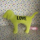 Victoria's Secret Yellow LOVE PINK Plush Dog