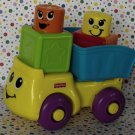 Fisher-Price Stack 'n Surprise Blocks Blockity Pop Dump Truck