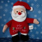 Baby's First Christmas Santa Rattle Stuffed Baby Toy