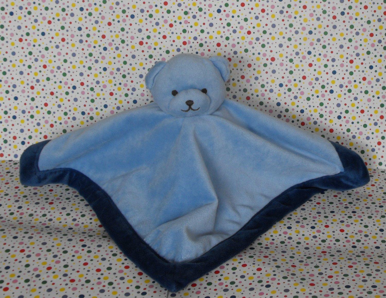 *11/16*SOLD~Tiddliwinks Blue Bear Blanket Bear Security Blanket Lovey