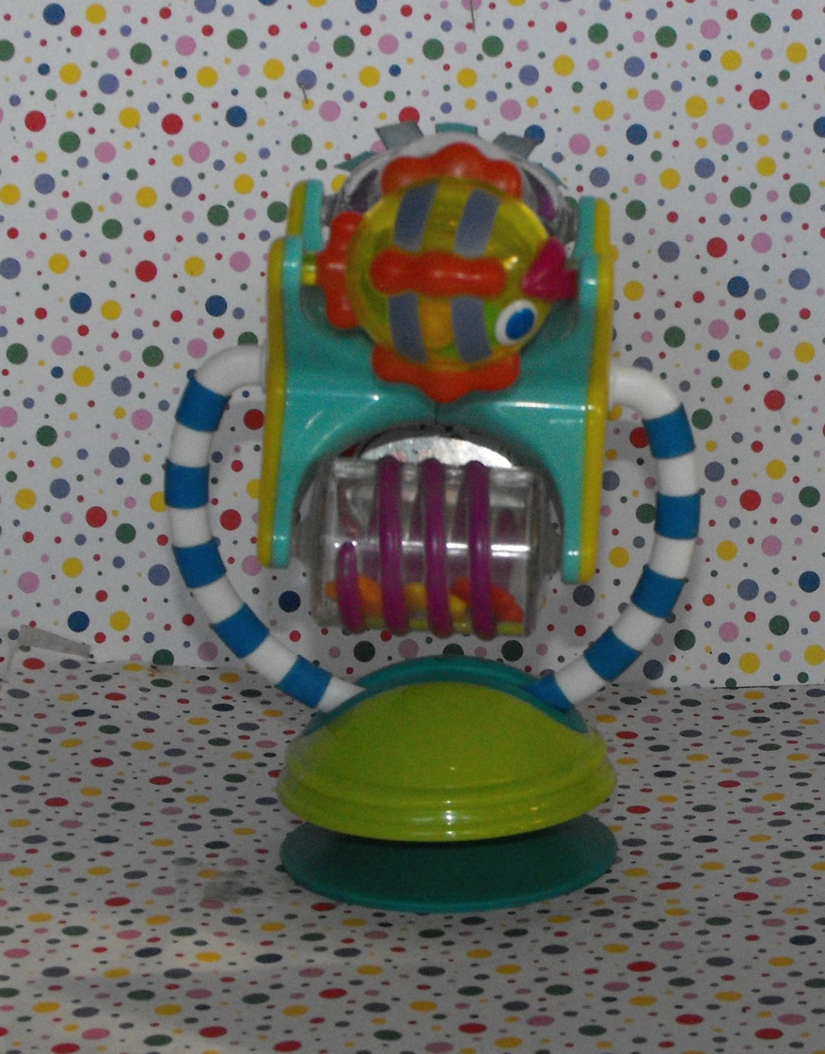Sassy Fishy Fascination Station Suction Baby Toy Bumbo Toy