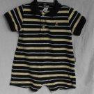 Carter's Play All Day Blue Stripe Romper Boys Outfit 6 MONTHS