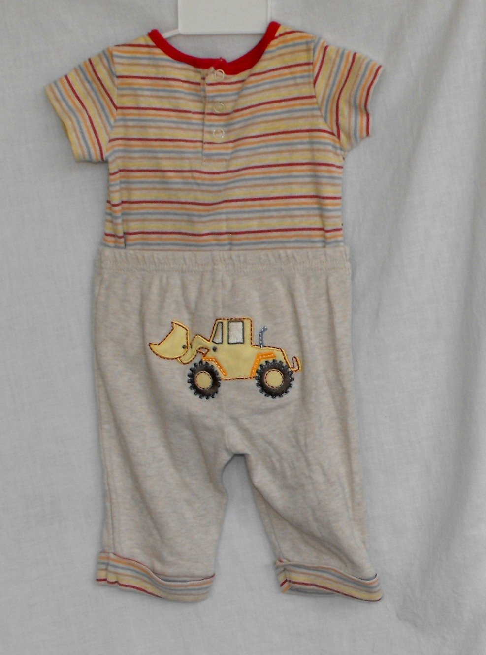First Impressions Baby Boys Construction 3-6 month 2-peice outfit onesie