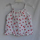 TOMMY HILFIGER BABY GIRLS 6-9 MONTHS CHERRIES TANK TOP