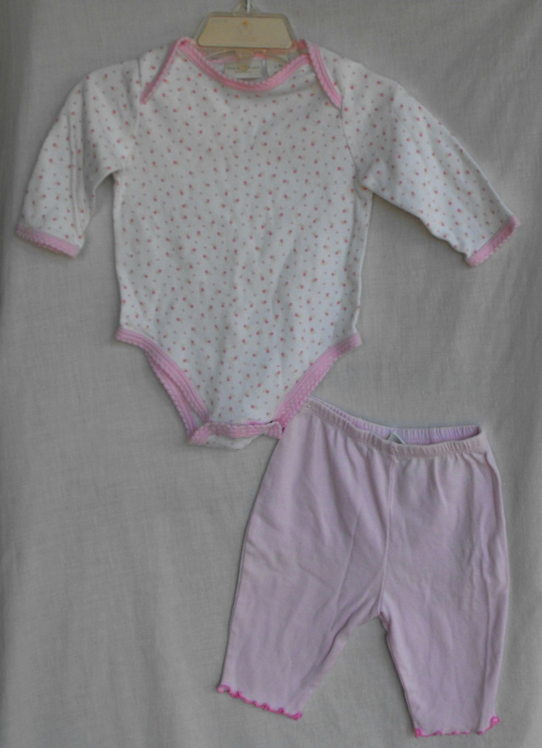 First Impressions Baby Girl 0-3 Months Long Sleeve Bodysuit Pants Outfit