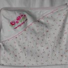 """Mommy's Little Rose"" Floral Print Pink Hooded Bath Towel"
