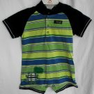 Carter's Baby Boy Dino Stomp Striped Romper with Hood 6 Months