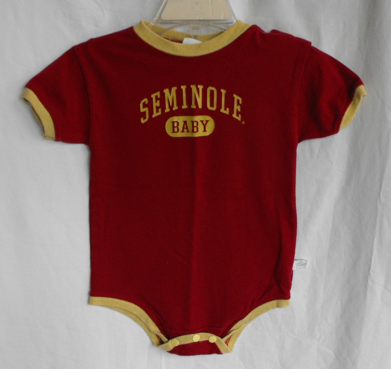 FSU Florida Seminoles Baby Boys Onesie Bodysuit 3 month