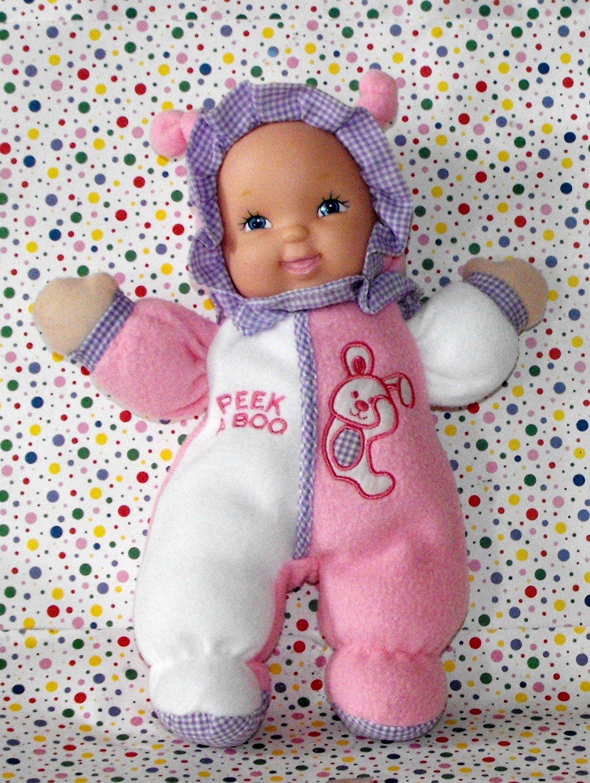 """*3/14*SOLD~Goldberger Fuzzy Fleece Baby Doll """"Peek-a-Boo"""" Collectible"""