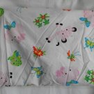 Fisher Price Rainforest Girls Crib Sheet  Pink and White