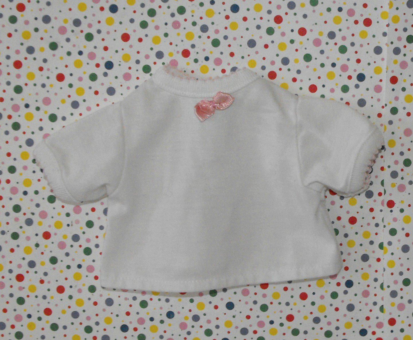 American Girl Bitty Baby Style Doll Shirt Pink Bow