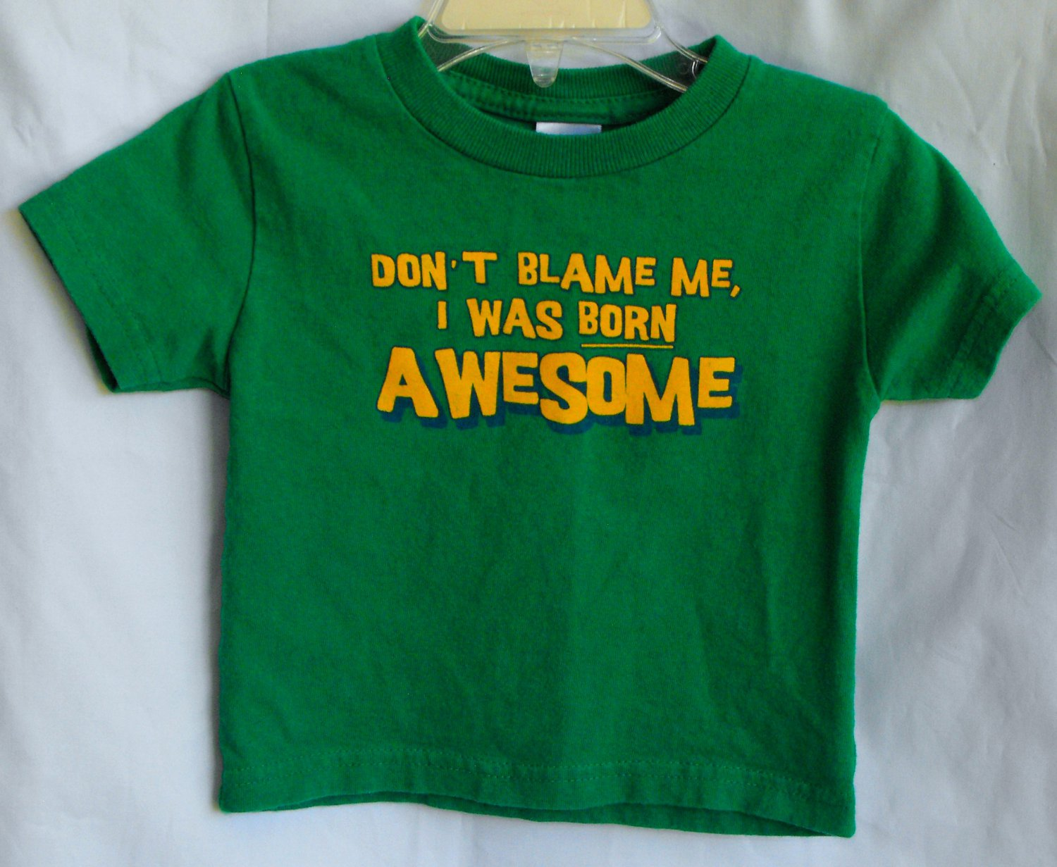 Little Teez Baby Boys 18 month Born Awesome T-Shirt