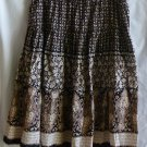 Sonoma Floral Paisley Print Boho Skirt Women's 1X