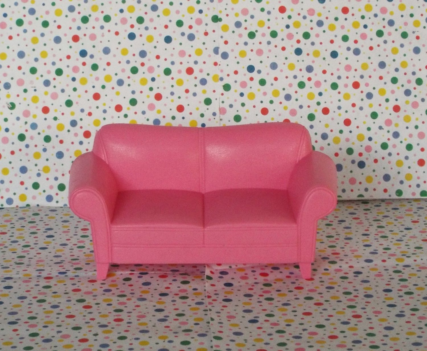 Fisher Price Loving Family Twin Time Dollhouse Pink Sofa
