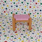 Fisher Price Loving Family Dollhouse Furniture Pink Vanity Stool